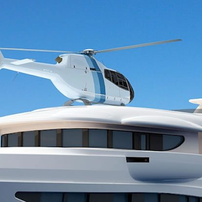 Private helicopter real estate tour